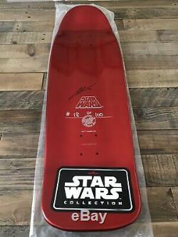 LTD ED SD COMIC-CON 2016 Santa Cruz Star Wars KYLO REN Skate Deck 18/100 SIGNED