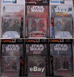 Lot/6 Star Wars Comic Packs Carnor Jax, Mara Jade, Palpatine Clone, Dark Woman
