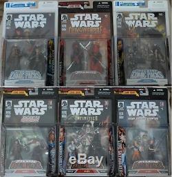 Lot/6 Star Wars Comic Packs Darth Talon, Carnor Jax, Commander Faie, Dark Woman