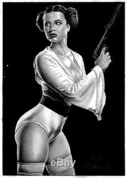 MARVEL Comics PRINCESS LEIA Original Art STAR WARS SKYWALKER VADER REN BB-8 JEDI