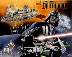 MARVEL Comics STAR WARS DARTH VADER ANNUAL #1 Original Art Painted Cover FORCE