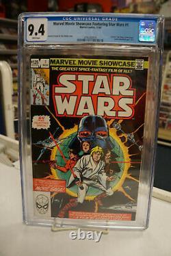 MARVEL MOVIE SHOWCASE STAR WARS #1 (Marvel Comics, 1982) CGC 9.4 White Pages