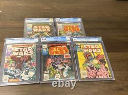 Marvel Comics Lot CGC GRADED Star Wars #1, #2, #3, #4, #68 HOLY GRAIL MUST SEE