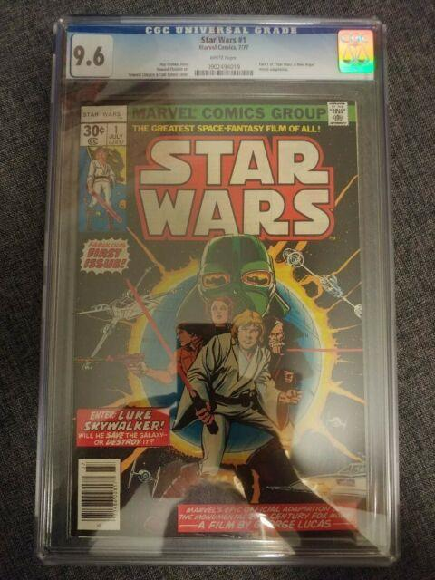 Marvel Comics Star Wars #1 Cgc 9.6 White Pages Nm+ 1977 Hot Book