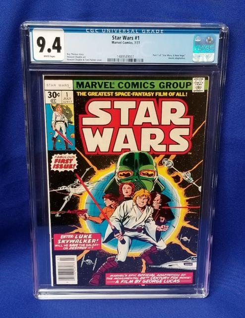 Marvel Comics Star Wars #1 1977 Graded Cgc 9.4 White Pages First Print