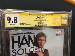 Marvel Comics Star Wars Han Solo #3 Signed Autographed Harrison Ford CGC SS 9.8