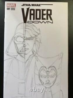 Marvel Comics Star Wars Vader Down #1 sketch cover commission Ahsoka Tano topps