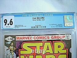 Marvel STAR WARS #42 CGC 9.6 NM+ White Pages 1980 Empire Strikes Back