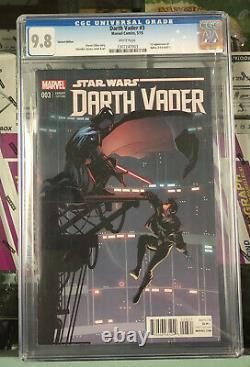 Marvel Star Wars Darth Vader #3 May 2015 CGC 9.8 Variant Edition (BB MO)