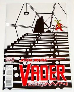 Marvel Star Wars Vader Down #1 Zdarsky Jaxxon B&W Variant Incentive 14999