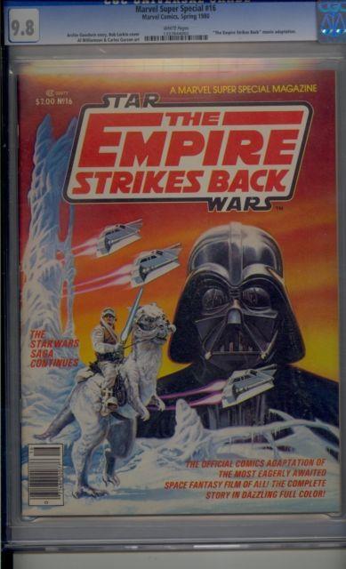 Marvel Super Special #16 Cgc 9.8 Star Wars Empire Strikes Back 1st Boba Fett