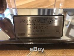Master Replicas Star Wars Han Solo Blaster A New Hope Elite Edition 865/1250
