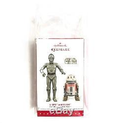 NIB Hallmark Keepsake Star Wars U-3PO & R5-D4 Ornaments Comic Con NYCC Exclusive