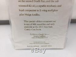 NYCC 2011 R2-Q5 & R2-A3 Hallmark Star Wars Ornament Comic Con Exclusive RARE