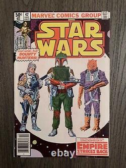 Nm / High Grade! Star Wars #42 1st Appearance Of Boba Fett Newsstand Variant