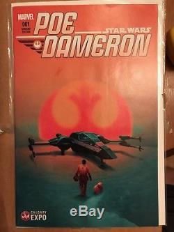 Poe Dameron #1 Calgary Expo Del Mundo Variant Rare Htf Star Wars Marvel Comic