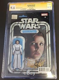 Princess Leia #1 Action Figure Variant SS CGC 9.6 Carrie Fisher Star Wars NM+
