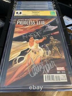 Princess Leia #1 Alex Ross Variant CGC SS 9.8 Signed By Carrie Fisher Gorgeous