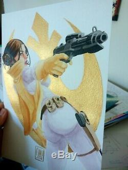 Princess Leia Star Wars (09x12) Original comic art by Flinn Cosmotrama