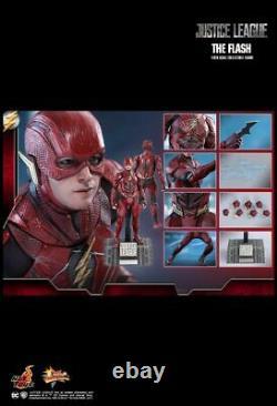 Ready Hot Toys DC Comics Justice League Flash Ezra Miller Mms448 1/6 New Misb