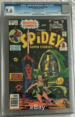 SPIDEY SUPER STORIES 31 CGC 9.6 OWithWHITE PAGES STAR WARS 1 HOMAGE MARVEL COMICS