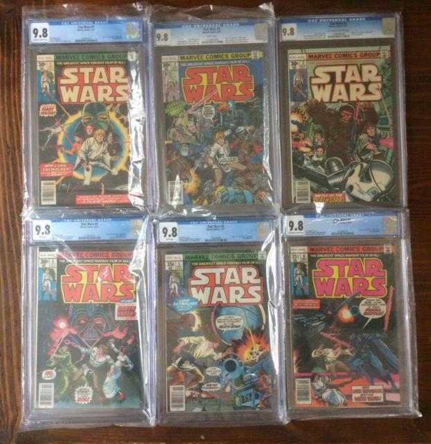 Star Wars 1977 #1 #2 #3 #4 #5 #6 Cgc 9.8 A New Hope 1st Print Marvel Comics