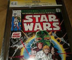 Star Wars #1 1977, Cgc 9.4 Ss Hamill, Fisher, Baker, Daniels, Mayhew, Prowse