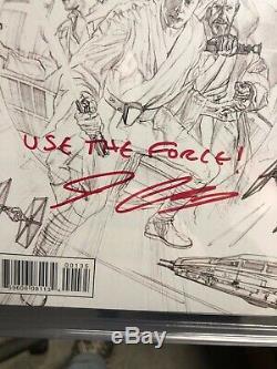 STAR WARS #1 2015 CGC 9.8 SIGNED JOHN CASSADAY Inscription Ross Sketch Edition