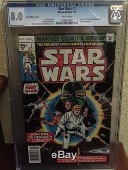 Star Wars #1 35 Cent Variant (1977, Marvel). 35 Graded Cgc 8.0 White Pages