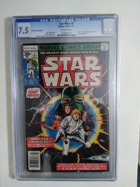 Star Wars #1 35 Cent Variant Cgc 7.5 Mega Key Ow Pages 1977