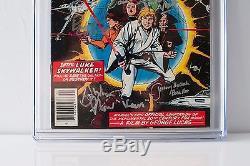 STAR WARS 1 CGC 8.0 1977 1st Print 8X Signed Lee Thomas Chaykin Mayhew Daniels