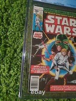 STAR WARS #1 CGC 9.2 WHITE PAGES 1977 1st Darth Vader, Luke Skywalker And More