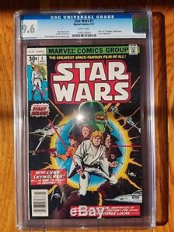 STAR WARS #1 CGC 9.6 Marvel July 1977 Comic Book WHITE Pages