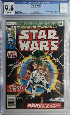 STAR WARS #1 CGC 9.6 NM+ 1977 FIRST PRINT NEWSSTAND A NEW HOPE MARVEL Comics