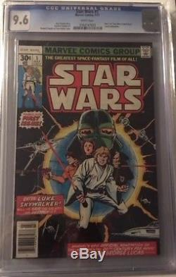 STAR WARS #1 CGC 9.6 NM+ Near Mint Vintage Marvel July 1977 Comic Book WHITE