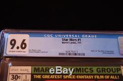 Star Wars # 1 Cgc 9.6 Nm+ Roy Thomas Story! No Reserve! Free Shipping