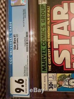 STAR WARS #1 CGC 9.6 OWW Marvel Comics 7/77 (first printing)