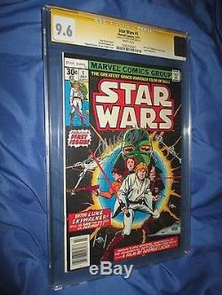 STAR WARS #1 CGC 9.6 SS Signed by Carrie Fisher/Princess LeiaMARVEL COMICS 1977