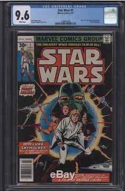 STAR WARS #1 CGC 9.6 WP Marvel Comics 7/77 Darth Vader Episode VII