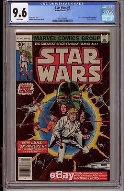 STAR WARS #1 CGC 9.6 White Pages Marvel Comics 7/77 Darth Vader Episode VII