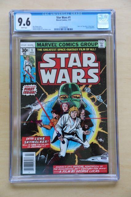 Star Wars 1 Cgc 9.6 White Pages Movie Darth Vader Luke Skywalker R2-d2 C-3po