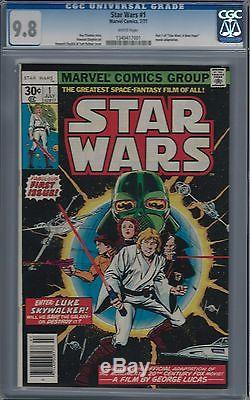 Star Wars #1 Cgc 9.8 Awesome Key Issue White Pages 1977 Rogue One Movie