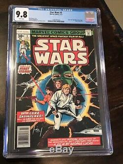 STAR WARS #1 CGC 9.8 MINT White Pages 1977 1ST PRINT NEW HOPE 1ST STAR WARS