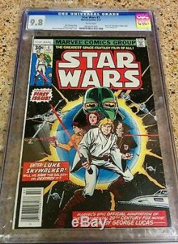 STAR WARS # 1 CGC 9.8! WHITE PAGES! First Print Original 1977 Marvel series
