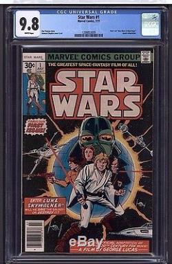 STAR WARS #1 CGC 9.8 WP Marvel Comics 7/77 Darth Vader Episode VII