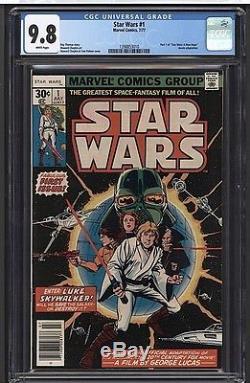 STAR WARS #1 CGC 9.8 WP Marvel Comics 7/77 Darth Vader Episode VII Rogue One