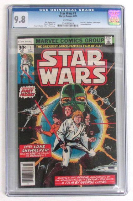 Star Wars #1 Cgc 9.8, White Pages! Marvel Comics 1977 Universal Highest Grade