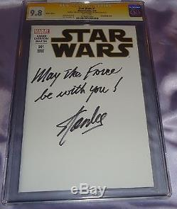 Star Wars 1 Cgc Ss 9.8 Signed & Inscribed By Stan Lee May The Force Be With You