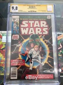 STAR WARS #1 CGC Signature Series Howard Chaykin 9.8 1ST PRINT Marvel