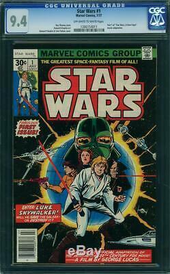 STAR WARS # 1 US MARVEL 1977 1st STAR WARS COMIC Chaykin art NM 9.4 CGC 011